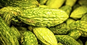 Types of melons at grocery store - Bitter melon