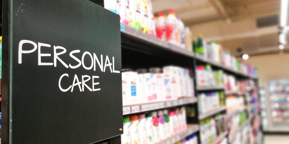 Common aisles of a grocery store - Personal care aisle
