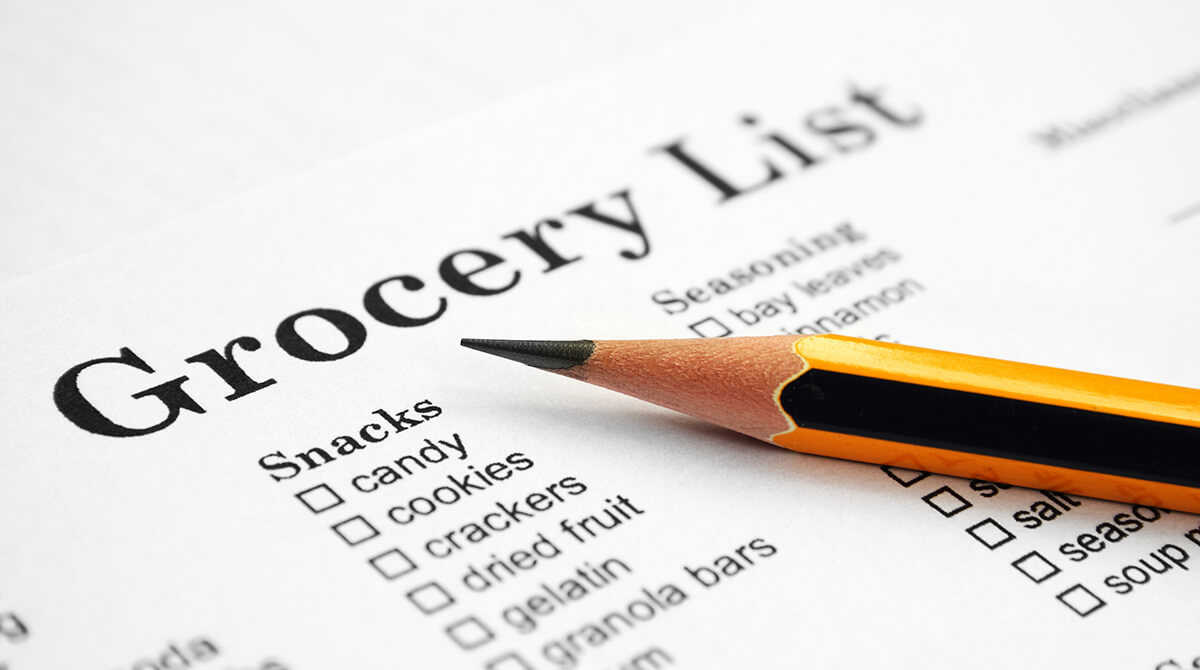 Why you should create a grocery list