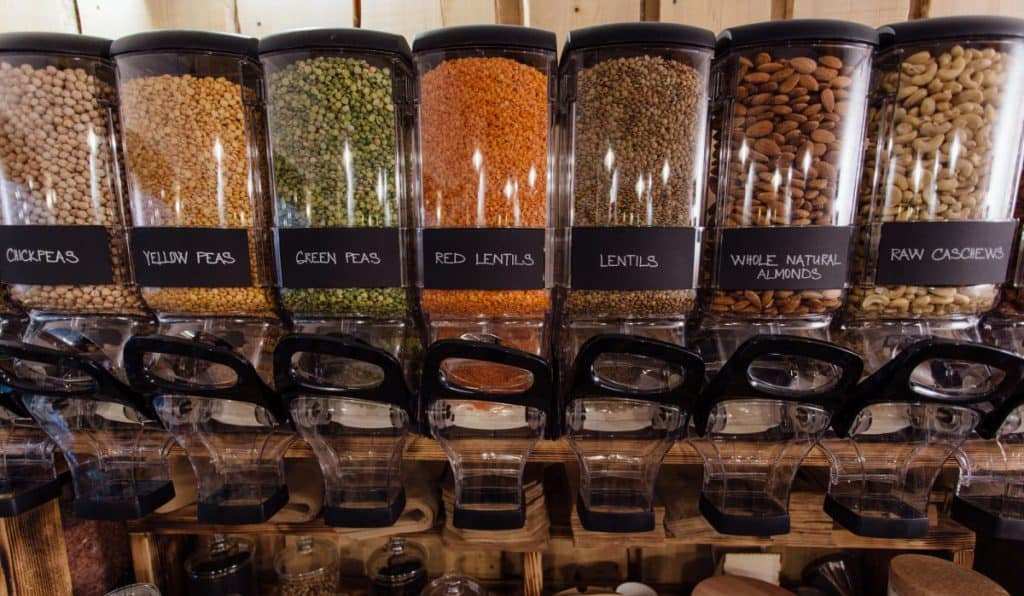 Lentils in the grocery store