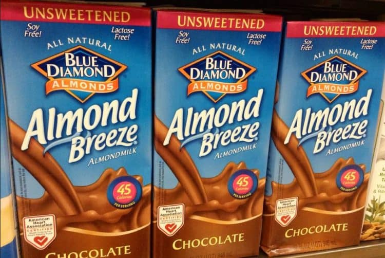 chocolate almond milk at the grocery store