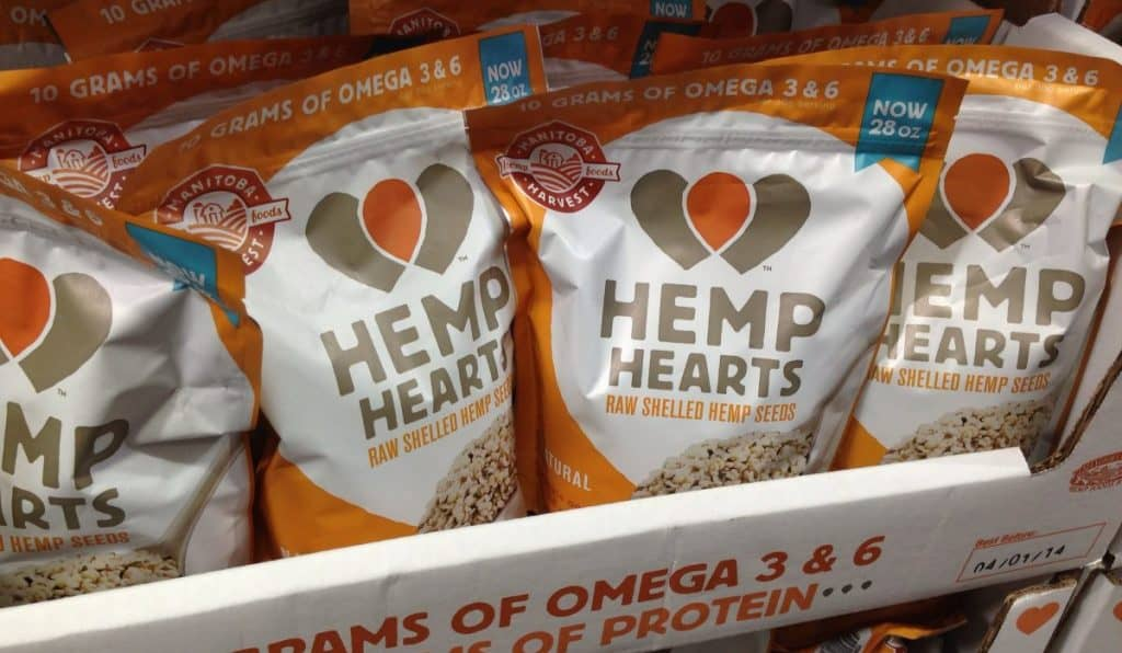 Hemp seeds in the grocery store