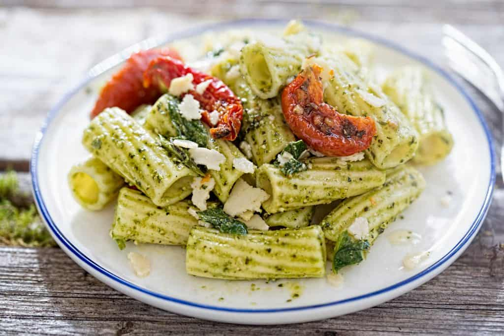 Pesto pasta - what to do with sun-dried tomatoes